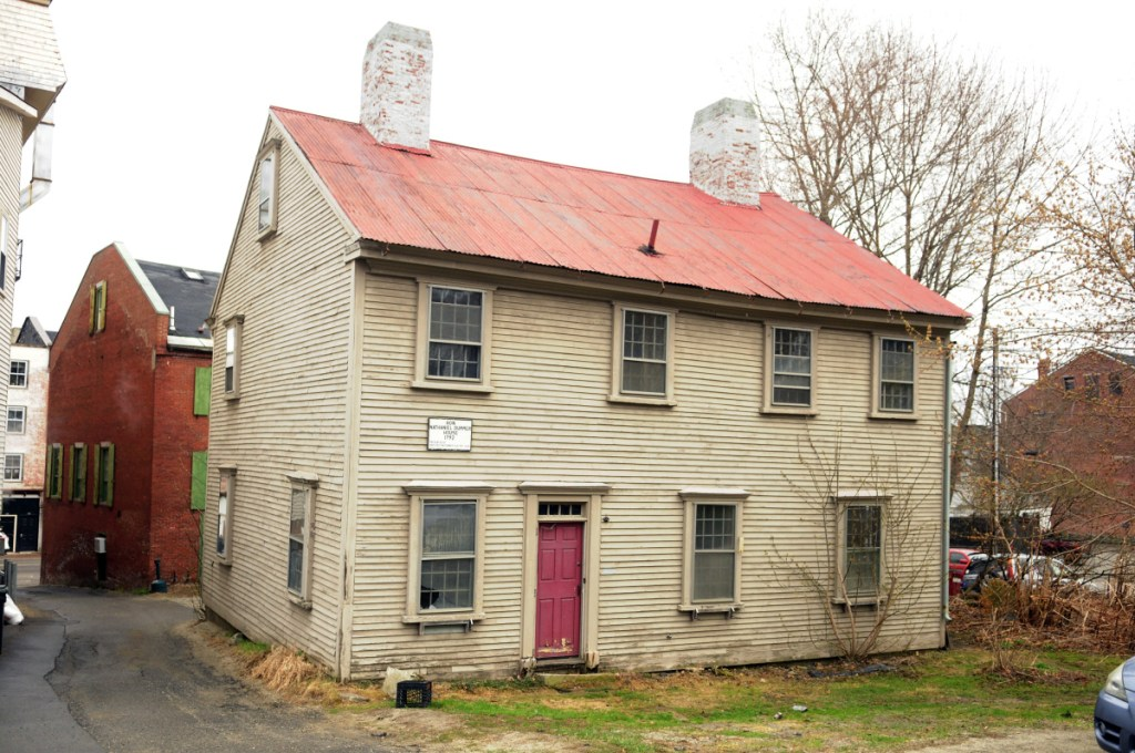 Hallowell city officials are discussing a plan to relocate the historic Dummer House, seen here in April 2017, to make way for a municipal parking lot.