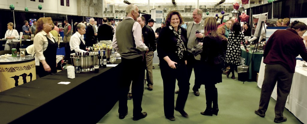 Dozens of area businesses took part on Thursday in the Business to Business event at Colby College in Waterville.