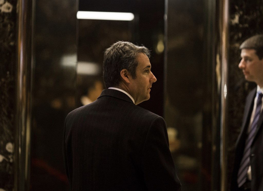 """Federal prosecutors say in a court filing that the criminal probe that led them to raid the offices of Michael Cohen, Trump's personal lawyer, is focused on Cohen's """"personal business dealings."""""""