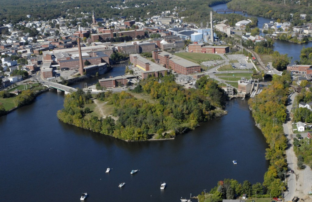 Saco Island sits in the Saco River between the downtowns of Biddeford and Saco.