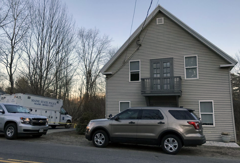 The Maine State Police Major Crimes Unit truck was parked outside of 1482 Hallowell Road in Litchfield on Sunday. Police wouldn't provide any details about what they were investigating.
