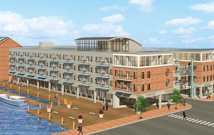 The original rendering from 2017 for the Fisherman's Wharf redevelopment proposal.