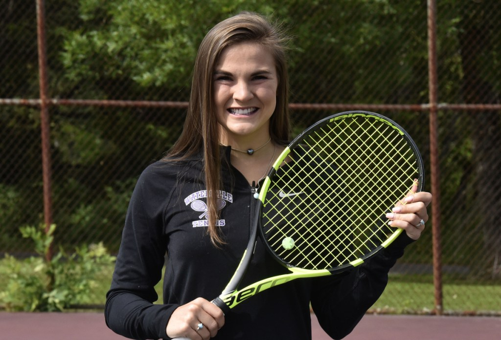 Staff photo by David Leaming   Waterville's Sammi Saulter is the Morning Sentinel Girls Tennis Player of the Year.