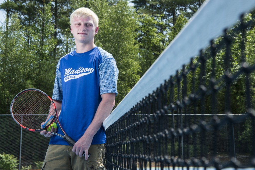 Madison's Kobe Tibbetts is the Morning Sentinel Boys Tennis Player of the Year.
