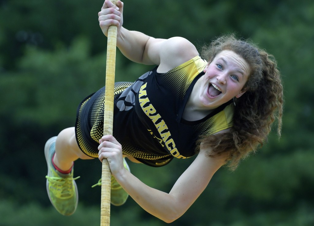 Maranacook's Nicole D'Angelo is the Kennebec Journal Girls Track and Field Athlete of the Year.