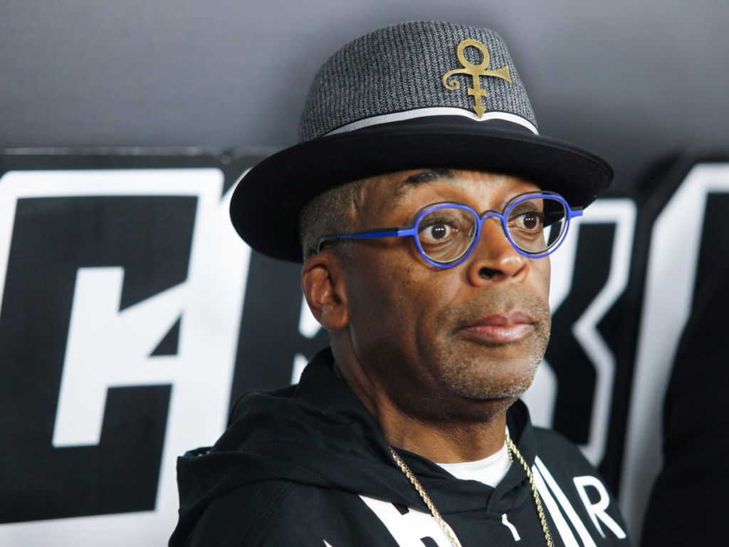 "Spike Lee attends the premiere of ""BlacKkKlansman"" at the Brooklyn Academy of Music on July 30 in New York."