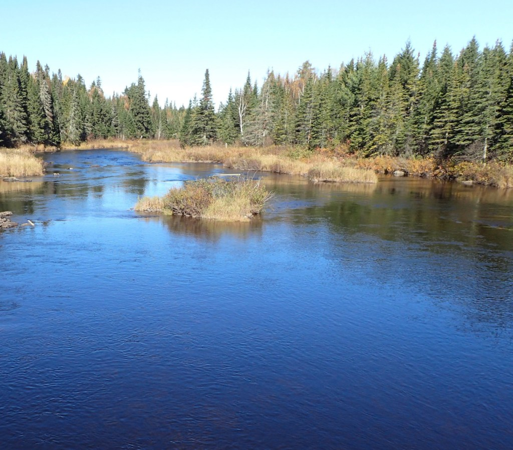 The upper St. John River flows at the outlet of Baker Lake, located in northwestern Maine forestland held by The Nature Conservancy. Maine's more than 17 million acres of forest are primarily privately owned.
