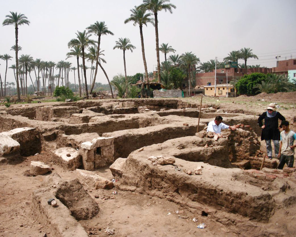 A large Roman bath and a chamber likely for religious rituals, that was recently discovered in the town of Mit Rahina, 20 kilometers, or 12 miles, south of Cairo, Egypt. Egypt hopes such discoveries will spur tourism, partially driven by antiquities sightseeing, which was hit hard by political turmoil following the 2011 uprising.
