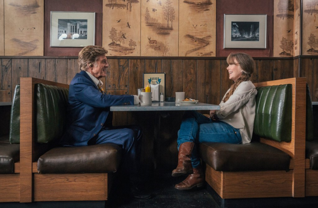 """Robert Redford, left, and Sissy Spacek in """"The Old Man and the Gun."""""""
