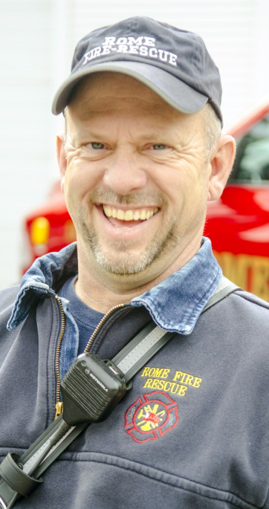 Rome Fire Chief Gary Foss poses for a portrait Monday at the Pulsifer Fire Station in Belgrade.