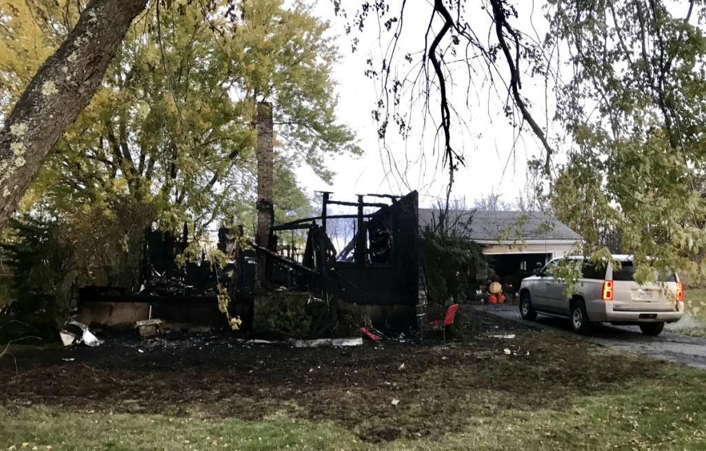 A fire destroyed a home early Friday morning at 16 Pleasant View Ridge Road in China.