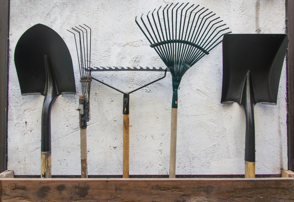 Hanging tools off the floor keeps them cleaner and prevents rust that can form if metal parts touch concrete.