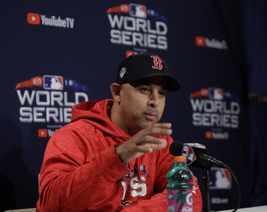 Alex Cora lead the Boston Red Sox to 108 regular season wins and a World Series title in his first season as a manager.