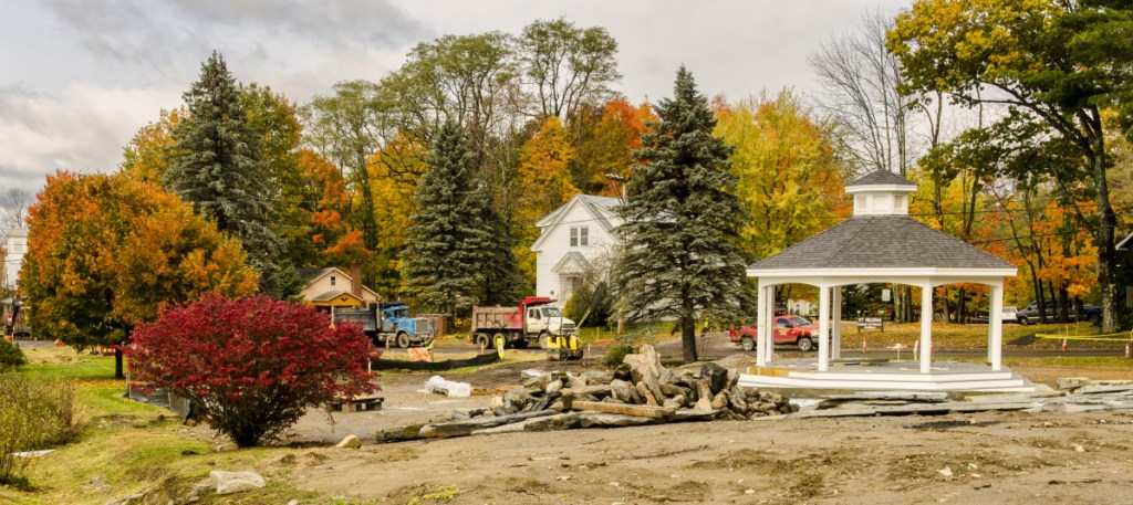 This photo taken Oct. 24 shows the new gazebo near the Route 27 and West Road intersection in Belgrade Lakes village.