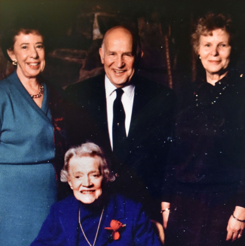 Rep. Alexander Richard, of Madison, with U.S. Sen. Margaret Chase Smith, front, Georgia McKearly, left, and Richard's wife, Shirley.
