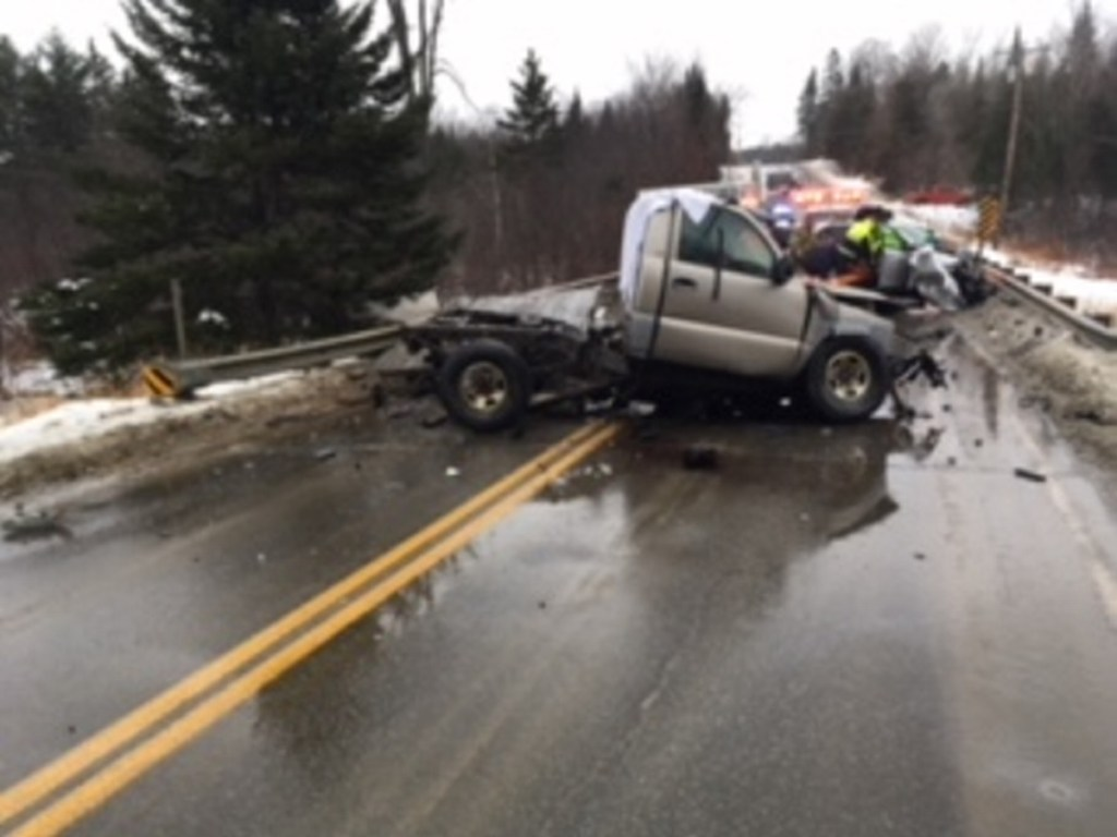 The impact of a motor vehicle crash on Shadagee Road in Cornville caused the truck bed of a 2000 GMC pickup truck to separate from the body on Sunday in Cornville, police said. The driver of the truck, Gregory Griffeth, 43, of Cornville, was pronounced dead at the scene.