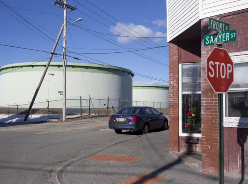 Portland Pipe Line says its future depends on being able to reverse the flow of oil in its pipeline to Montreal into tanks like those above near Front Street in South Portland.