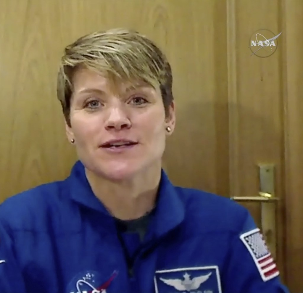 Army Lt. Col. Anne McClain of Spokane, Wash., will join a Russian and a Canadian on her first spaceflight Dec. 3.