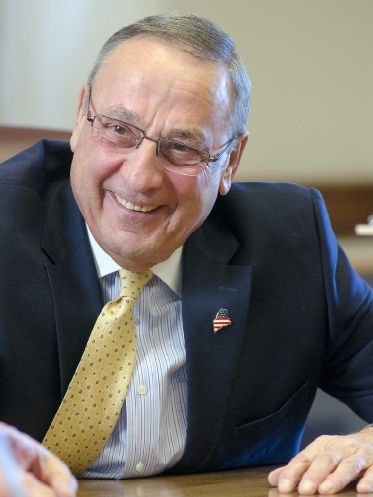 Gov. Paul LePage speaks during an interview with the Morning Sentinel on Dec. 29, 2018 in the Cabinet Room of the Maine State House in Augusta.