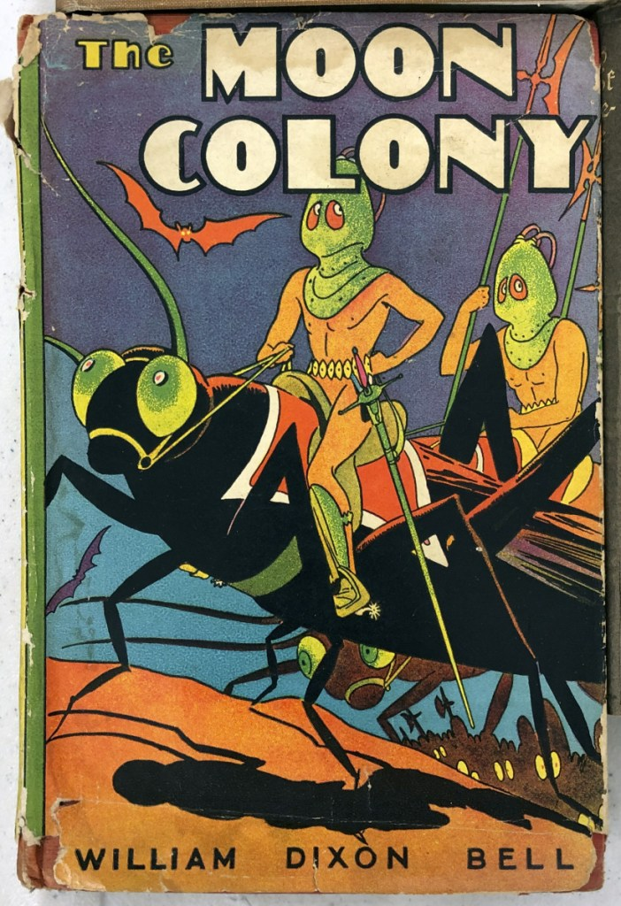 """""""The Moon Colony"""" was one of the books for sale Tuesday at the Augusta Armory."""