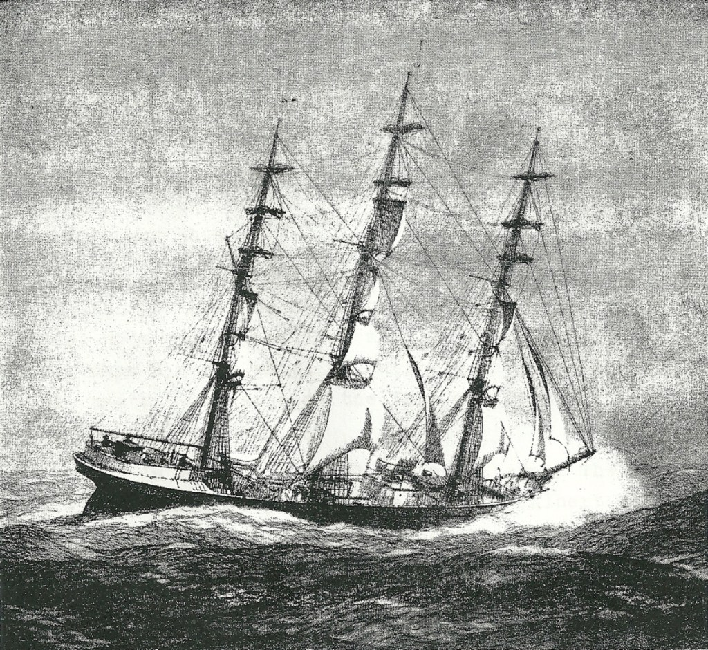"""The ship """"Bangalore"""" which carried a couple from Searsport to San Francisco """"around the horn"""" in 1906, for a honeymoon trip that was more adventurous than romantic."""