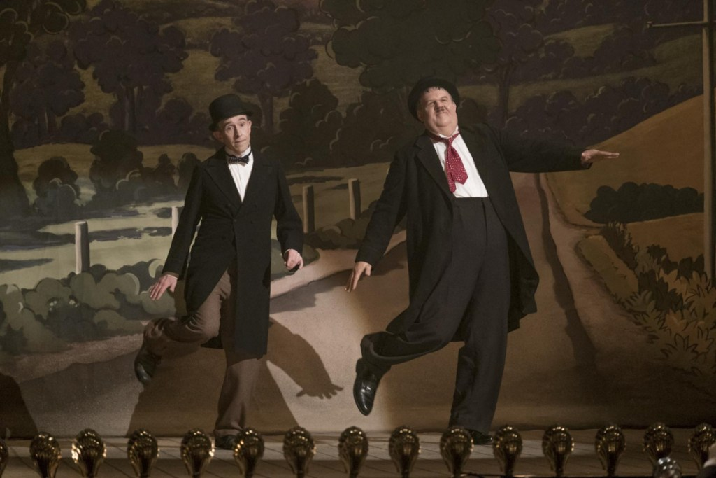 "Steve Coogan, left, and John C. Reilly in a scene from ""Stan & Ollie."""