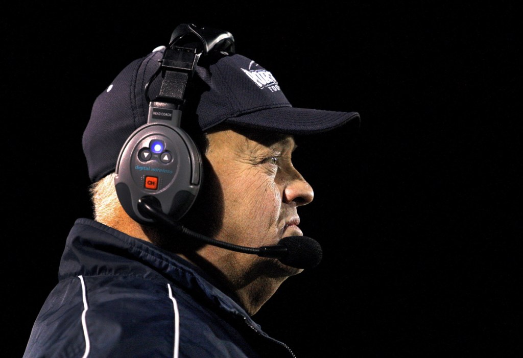 Jim Hartman, head coach of the Portland High football program from 2012-18, is returning to Yarmouth High. He led the Clippers to back-to-back Class C state football titles in 2010 and 2011. (Staff Photo by Gabe Souza)