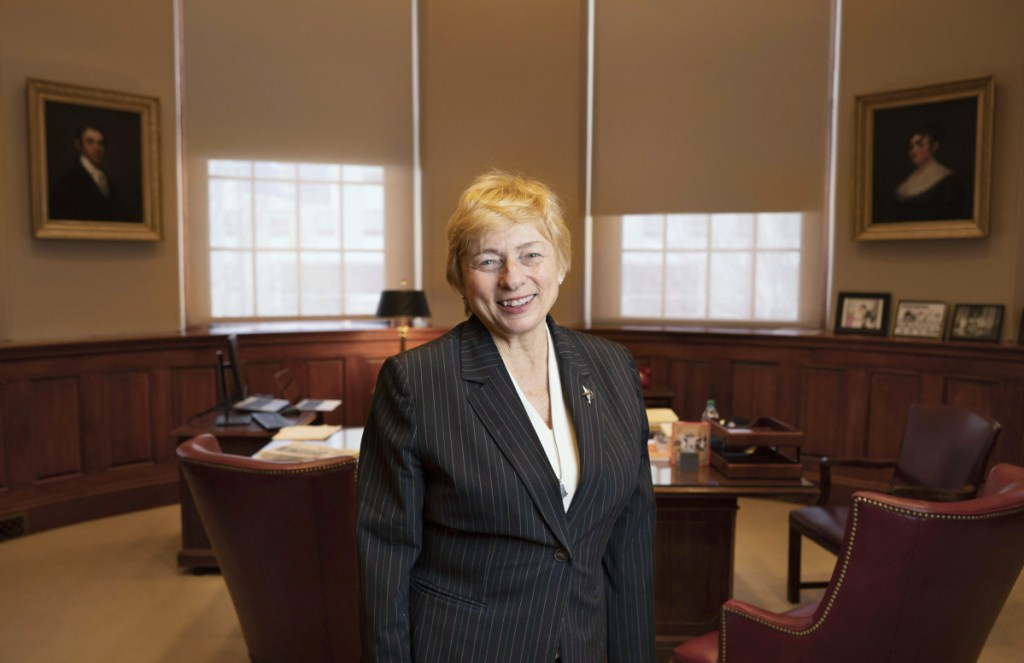 """Gov. Janet Mills poses last week in her office at the State Capitol Building in Augusta, where she offered thoughts about the opioid epidemic that has gripped the state for years. """"I'm just tired of talking about it,"""" she says, after serving on two separate task forces. """"I really just want to take action."""""""