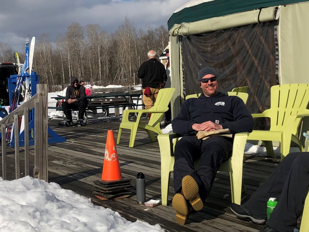 """Director of Parks and Recreation Matt Skehan, seen outside the Welcome Center yurt at Quarry Road Trails in Waterville, said hiring a full-time program director will be a """"game-changer"""" for the area's future."""
