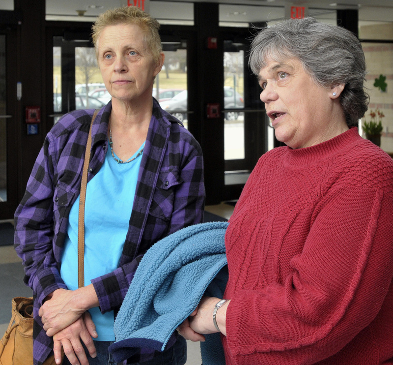 """""""It's scary to listen to (the debate). Everybody has to have insurance,"""" said Toni Fizell, left. """"I'm just going to look for something part time and pray that I stay healthy,"""" said Sharon Haskell, right."""