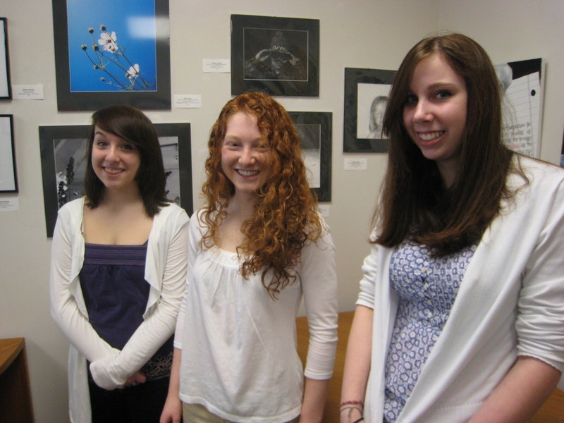 York High School students Julianne Rainone, Monique Boutin and Chelsea Dean have received Silver Star awards for works they submitted in the 2010 Maine Scholastic Art Awards.