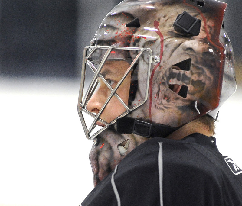 """Beau Erickson, who joined the Pirates last week to provide depth with starting goalie Jhonas Enroth still sidelined with an injury, has played in 27 games with three pro teams this season. """"His work ethic is very high,"""" said Pirates Coach Kevin Dineen."""