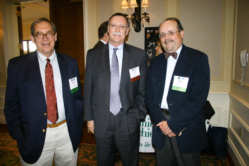 """Horace """"Hoddy"""" Hildreth, board chair of Diversified Communications, Carl Chatto of Baker Newman Noyes, and Paul Clancy of Diversified Communications."""