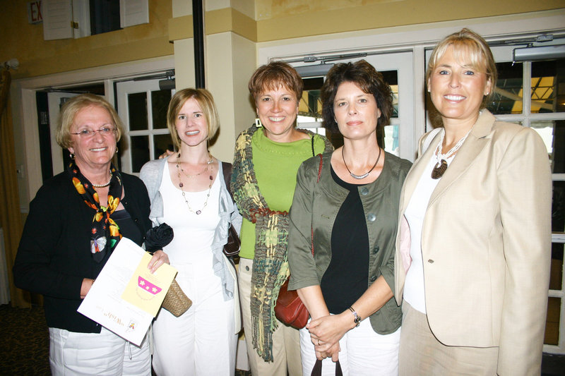Joan Moorehead of Paris, Jennifer O'Rourke of Sumner, Doreen Simmons of South Paris, Cathy Dow of Paris and Dawn Minigell of Norway