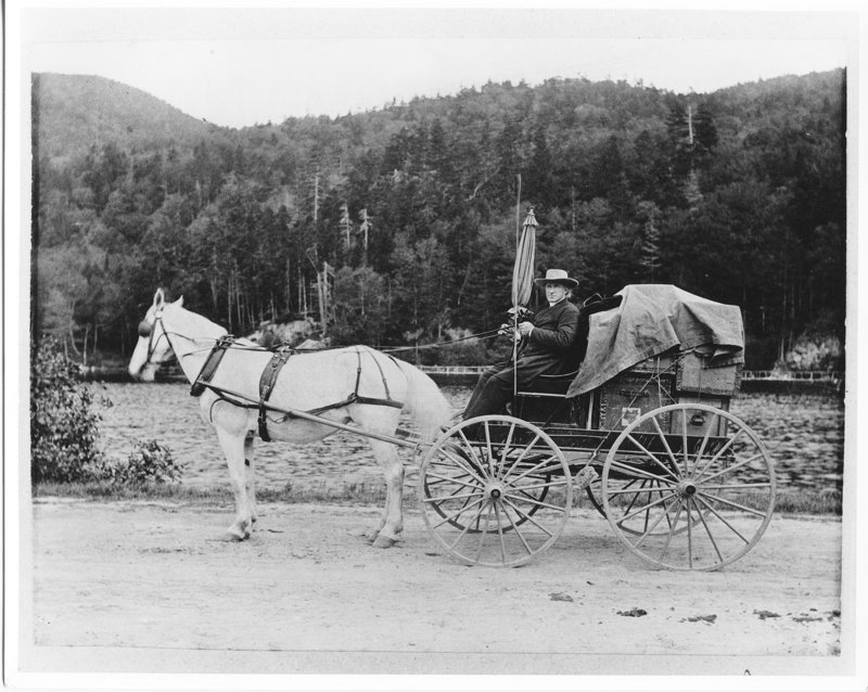 An 1896 photo at the Alfred Shaker community