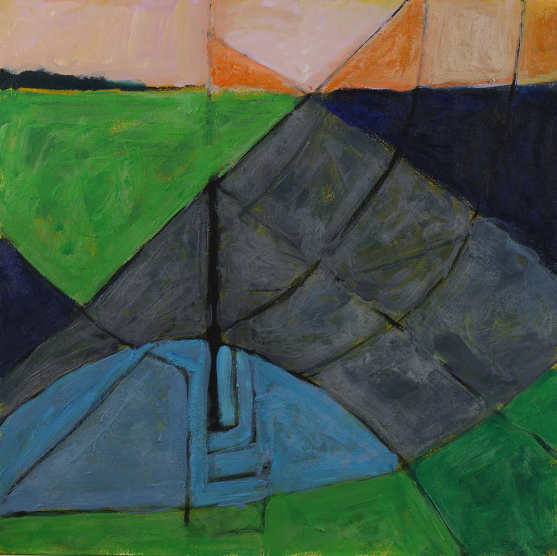"""""""Sea Geometry 98"""" by Richard Keen at Elizabeth Moss Galleries in Falmouth"""