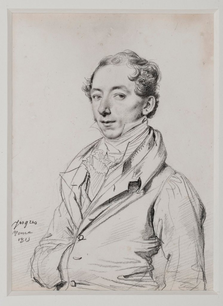 1815 graphite-on-paper portrait by Jean-Auguste-Dominique Ingres, at the Portland Museum of Art (opens March).