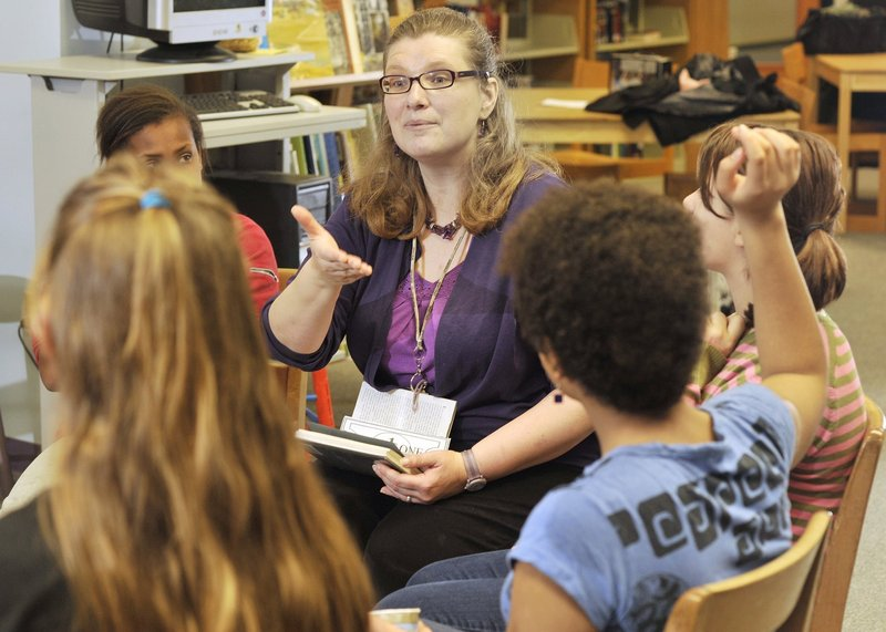 Kelley McDaniel, who got the attention of lawmakers during a budget hearing Wednesday, is an award-winning librarian who also connects with students at Portland's King Middle School.