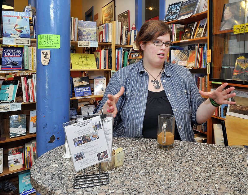 "Lacy Simons, the longtime manager of Rock City Books & Coffee in Rockland, is buying the book side of the business. ""I am fully confident I will be doing well,"" she said."