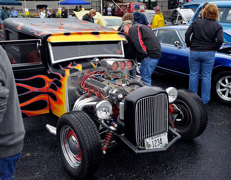 A restored 1928 Hudson Tudor owned by Louie DiBiase of Portland was voted best of show. The event benefits Portland police youth programs.