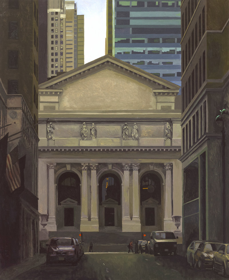 """Thomas Connelly's oil on panels """"Warm Library"""""""
