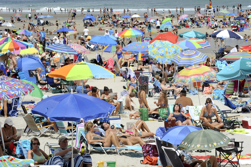 Public access to Ogunquit Beach is encouraged, with many pay-to-park lots nearby. Maine has about 30 miles of public sand beaches.
