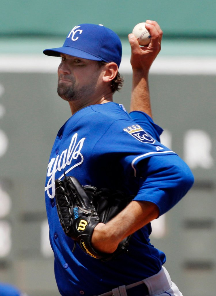 Luke Hochevar went seven innings for Kansas City and left with a 4-2 lead as the Royals held off the Red Sox for a 4-3 win Thursday.