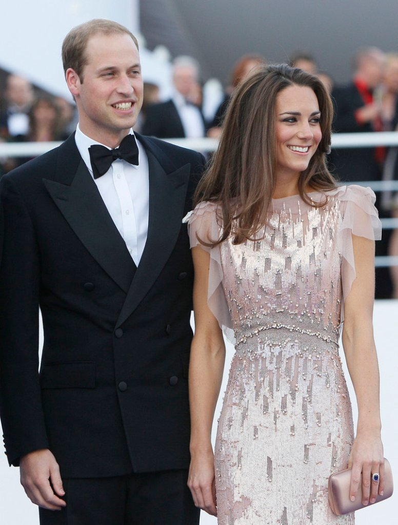 Kate Middelton, shown with her husband, Prince William, earns a spot on Vanity Fair's International Best Dressed List for the second time.