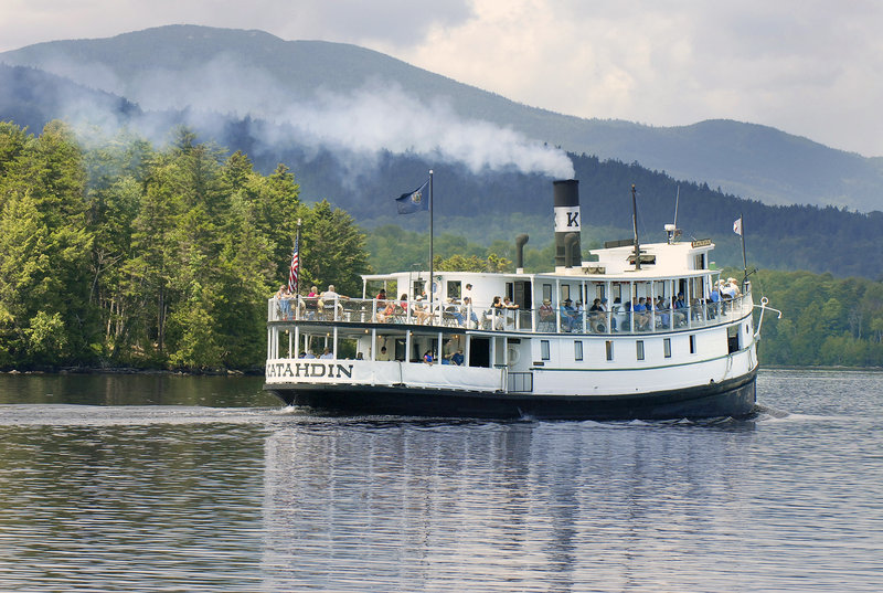 The Katahdin leaves Greenville for a cruise on Moosehead Lake in this file photo. The ship will be out of commission for about a week after a small fire on board on Friday.