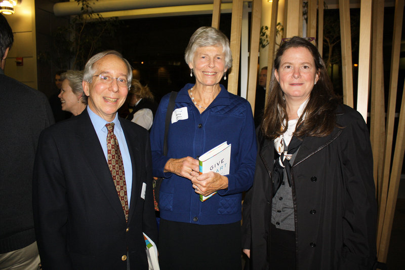 """Ken Spirer, who is a former Maine Community Foundation board chair, and Anne Jackson and Elizabeth Hilpman, who both serve on the current board. The """"Inspiring Philanthropy"""" talk and reception was Thursday."""