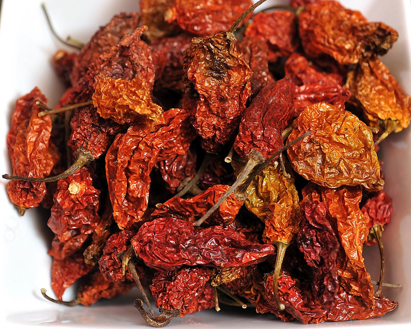 GHOST CHILE – Gryffon Ridge's ghost chiles come from the Assam province in India, where they were first discovered. This chile is the hottest naturally occurring chile in the world – more than 400 times hotter than Tabasco sauce.