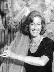 HARPIST Suki Flanagan will provide music during a benefit dinner for the Morris Farm Trust at 6 p.m. Feb. 6 at Le Garage Restaurant, 15 Water St., Wiscasset.