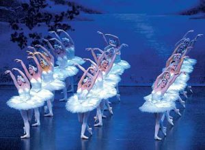 """DANCERS in the Maine State Ballet perform """"Swan Lake"""" at Portland's Merrill Auditorium in May 2006. The company will bring Tchaikovsky's masterpiece back to the Merrill stage on March 31 and April 1."""