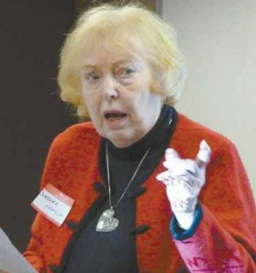 BARBARA HAMLIN, 85, urges women to take swift action at the first sign of a heart attack. Hamlin spoke at the Go Red! dinner on Feb. 2 at Mid Coast Hospital in Brunswick.